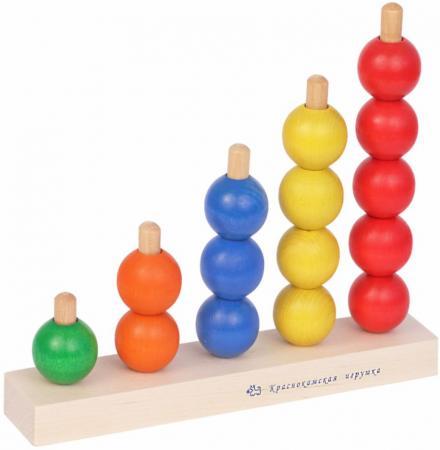 Пирамида КРАСНОКАМСКАЯ ИГРУШКА Радуга 16 элементов ПИР-04 краснокамская игрушка развивающая пирамидка геометрия