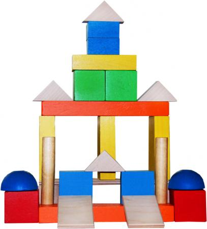 Деревянный конструктор КРАСНОКАМСКАЯ ИГРУШКА Малыш 30 элементов НСК-04 логическая игрушка краснокамская игрушка логический ряд ли 13