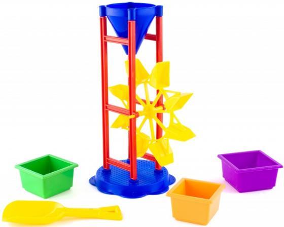 Песочный набор Пластмастер № 9 5 предметов 70039 в ассортименте песочный набор пластмастер бережок 7 предметов 70036 в ассортименте
