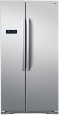 Холодильник Side by Side SHIVAKI SBS-615DNFX серебристый холодильник side by side samsung rs 552 nrua9m wt