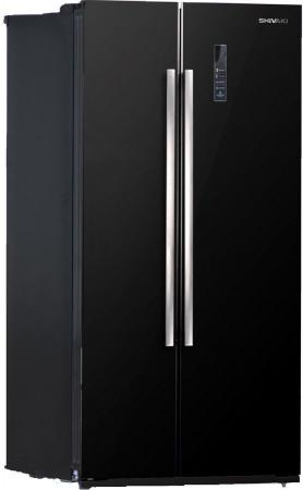 Холодильник Side by Side SHIVAKI SBS-550DNFBGL черный холодильник side by side samsung rs552nrua1j