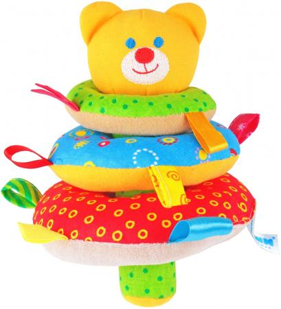 Погремушка МЯКИШИ ШуМякиши Мишка 322 игрушка погремушка мякиши медвежонок колечко