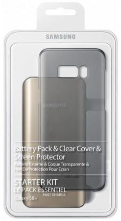 Чехол Samsung EB-WG95EBBRGRU для Samsung Galaxy S8 + защитное стекло черный чехол samsung eb wg95ebbrgru для samsung galaxy s8 защитное стекло черный