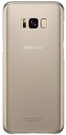 Чехол Samsung EF-QG955CFEGRU для Samsung Galaxy S8+ Clear Cover золотистый/прозрачный чехол клип кейс samsung protective standing cover great для samsung galaxy note 8 темно синий [ef rn950cnegru]