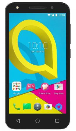 Смартфон Alcatel U5 5044D серый 5 8 Гб LTE Wi-Fi GPS 3G смартфон alcatel idol 5 6058d черный 5 2 16 гб lte gps wi fi 3g 6058d 2aalru7