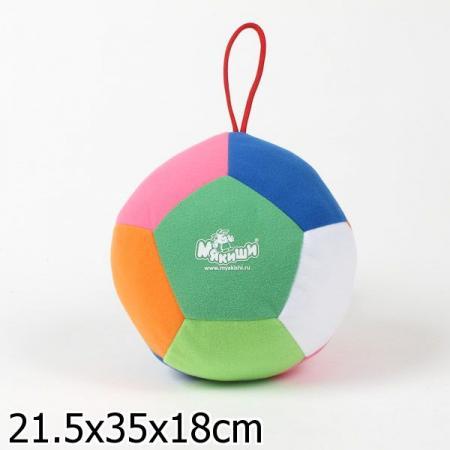 Развивающая игрушка МЯКИШИ мячик Футбол 008 развивающая игрушка мякиши мой зайчик цвет серый белый розовый