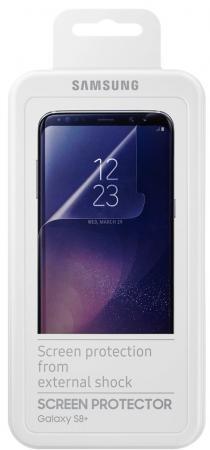 Пленка защитная прозрачная Samsung ET-FG955CTEGRU для Samsung Galaxy S8+ 2шт оригинальный samsung galaxy s8 s8 plus nillkin 3d ap pro полноэкранный экранный протектор экрана