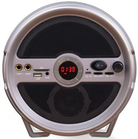 Портативная акустика Ginzzu GM-885B черный портативная акустика ginzzu gm 885b черный