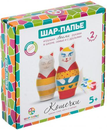 Набор для творчества ШАР-ПАПЬЕ Кошечки от 5 лет набор д детского творчества шар набор шар папье медвежонок