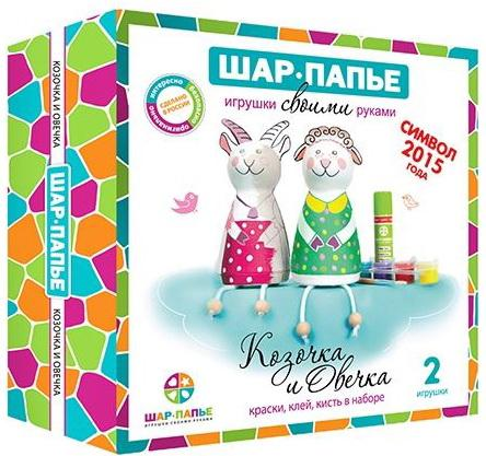 Набор для творчества ШАР-ПАПЬЕ Овечка и Козочка от 5 лет набор д детского творчества шар набор шар папье медвежонок
