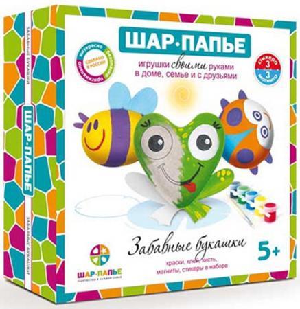 Набор для творчества ШАР-ПАПЬЕ Магнит Забавные букашки от 5 лет В01685 набор д детского творчества шар набор шар папье медвежонок