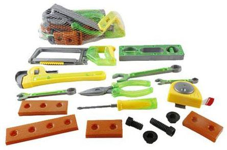 Набор инструментов Shantou Gepai Строитель 17 предметов SY553-1/2 игрушечные инструменты shantou gepai набор инструментов маленький мастер