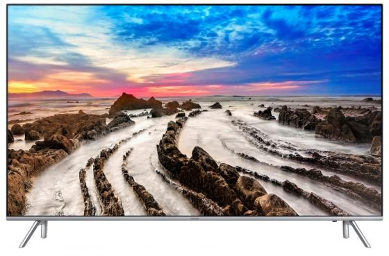 Телевизор LED 49 Samsung UE49MU7000UX серебристый 3840x2160 50 Гц Wi-Fi Smart TV RJ-45 Bluetooth телевизор led 65 samsung qe65q7camux серебристый 3840x2160 wi fi smart tv rs 232c