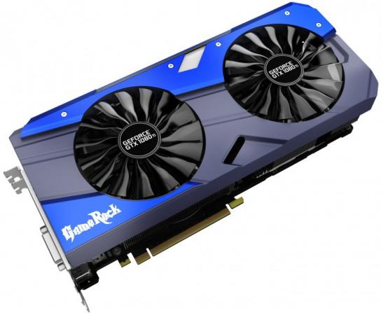 Видеокарта 11264Mb Palit GeForce GTX1080 Ti GameRock 11G PCI-E 352bit GDDR5X DVI HDMI DP NEB108TT15LC-1020G Retail видеокарта 8192mb msi geforce gtx 1080 gaming x 8g pci e 256bit gddr5x dvi hdmi dp retail