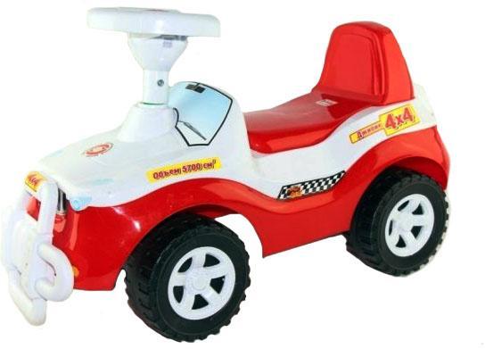 Каталка-машинка Orion Джипик 105_кр/б от 2 лет на колесах красно-белый каталка машинка orion джипик 105 кр б красно белый от 2 лет