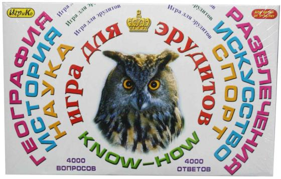 Настольная игра для вечеринки ИгриКо Эрудит-игра для взрослых 8010.10 игра настольная развлек для взрослых пьяная рулетка