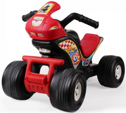 Каталка-машинка ТехноК Квадроцикл 4104 пластик от 2 лет на колесах черно-красный