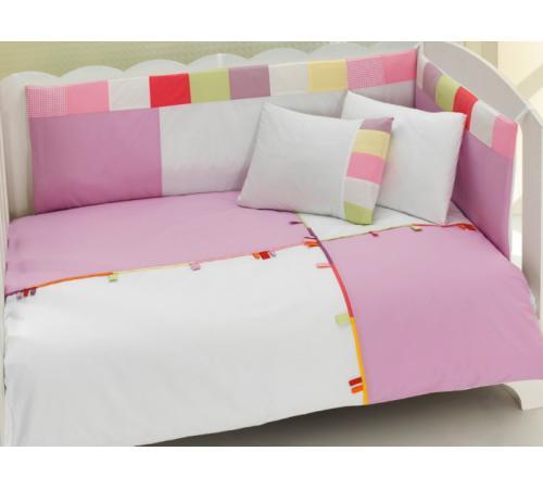 Комплект постельного белья 3 предмета KidBoo Loony (pink) kidboo kidboo халат little farmer махровый бело розовый