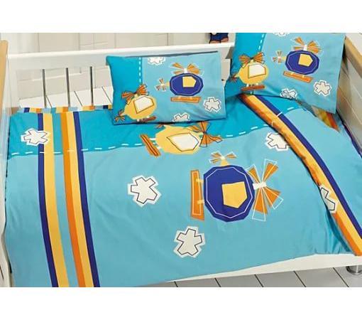 Постельный сет 6 предметов Ups Pups Вертолётики постельный сет 6 предметов ups pups мишка синий