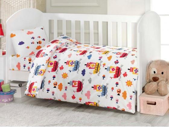 Комплект постельного белья 4 предмета Ups Pups Пароход постельное белье ups pups уточки 3 предмета