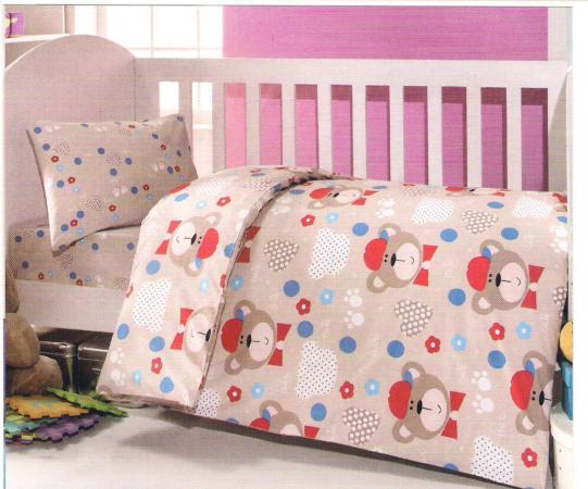 Постельный сет 6 предметов Ups Pups Мишка (бежевый) постельный сет 6 предметов ups pups мишка синий