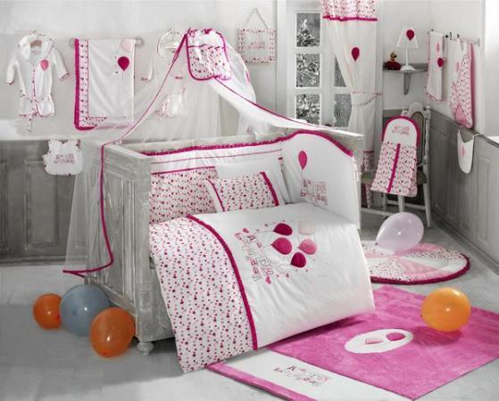 Постельный сет 4 предмета KidBoo Happy Birthday (pink) kidboo kidboo халат little pilot махровый белый