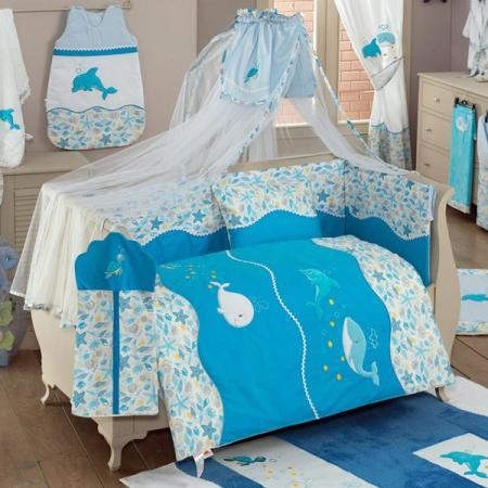 Постельный сет 4 предмета KidBoo Sea Life постельный сет 4 предмета kidboo rabitto blue