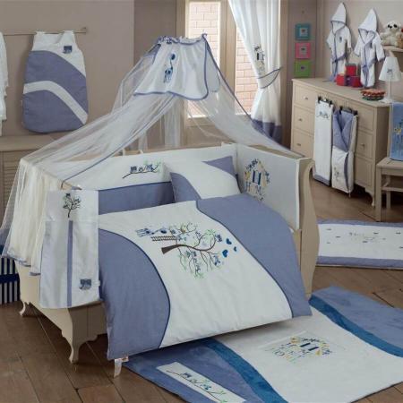 Постельный сет 4 предмета KidBoo Sweet Home (blue) пледы kidboo lets race флисовый