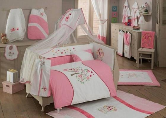 Постельный сет 4 предмета KidBoo Sweet Home (pink) kidboo kidboo халат elephants махровый бело розовый