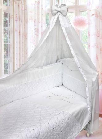 Постельный сет 6 предметов Bombus Серебряные Cны (белый) карман на кроватку bombus светик розовый