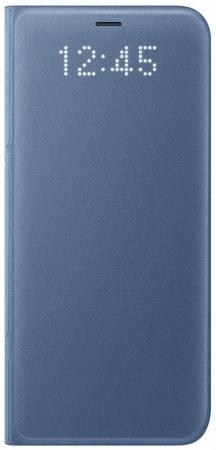 Чехол Samsung EF-NG950PLEGRU для Samsung Galaxy S8 LED View Cover голубой аксессуар чехол samsung j3 2017 j330f zibelino clear view black zcv sam j330 blk