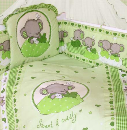Комплект постельного белья Золотой Гусь Слоник Боня (зеленый)