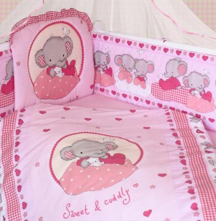 Комплект постельного белья Золотой Гусь Слоник Боня (розовый)