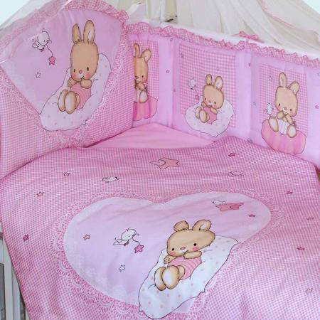 Постельный сет 7 предметов Золотой Гусь Степашка (розовый) постельный сет 7 предметов золотой гусь мишутка розовый