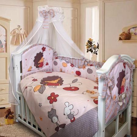 Комплект в кроватку Золотой Гусь Ёжик Топа-Топ (бежевый) комплект в кроватку золотой гусь мишка царь бежевый