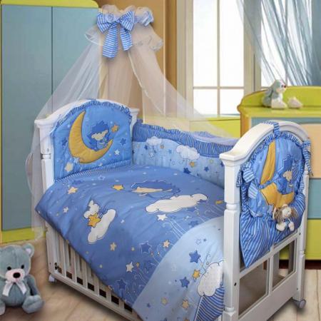 Комплект в кроватку Золотой Гусь Ёжик Топа-Топ (голубой) комплект в кроватку золотой гусь ежик топа топ 8 предметов розовый 1286