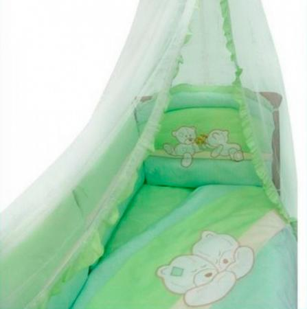 Постельный сет 8 предметов Золотой Гусь Лапушки (зеленый) постельный сет 7 предметов золотой гусь сладкий сон зеленый
