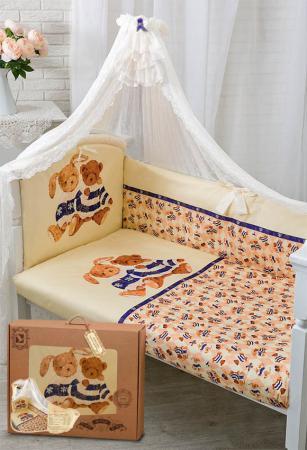 Постельный сет 7 предметов Золотой Гусь Умки (бежевый) комплект в кроватку золотой гусь мишка царь бежевый