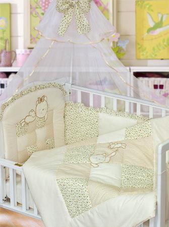 Комплект в кроватку Золотой Гусь Кошки-Мышки (бежевый) комплект в кроватку золотой гусь ежик топа топ бежевый 1283