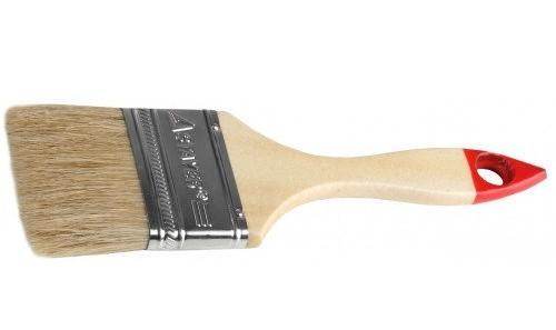 Кисть плоская Stayer UNIVERSAL-STANDARD натуральная щетина деревянная ручка 100мм 0101-100 кисть плоская stayer universal standard натуральная щетина деревянная ручка 38мм 0101 038