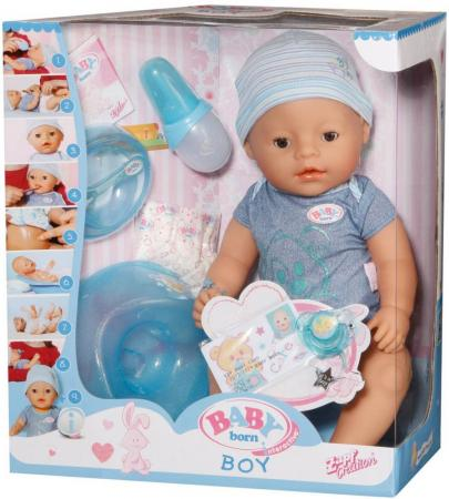 Кукла ZAPF Creation Baby born мальчик 43 см пьющая плачущая 822-012 кукла zapf creation baby born мальчик 43 см пьющая плачущая