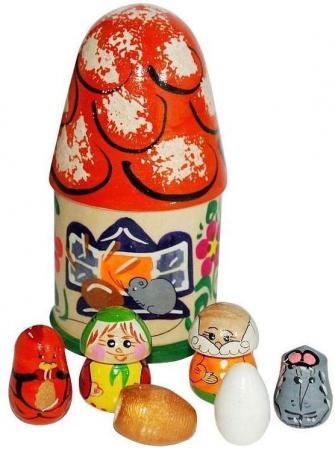 """Пальчиковый театр в домике Русские народные игрушки """"Курочка ряба"""" Р-45/776 гордиенко с пальчиковый театр журавль и лиса курочка ряба игрушки делаем сами"""
