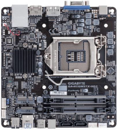 Материнская плата GigaByte GA-H110MSTX-HD3 Socket 1151 H110 2xDDR4 2xSATAIII Mini-STX Retail