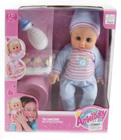Пупс Shantou Gepai Angelbaby с аксессуарами 36 см смеющаяся плачущая говорящая пьющая писающая 11091A кукла младенец shantou gepai 8018l4 35 см писающая пьющая