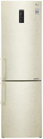 Холодильник LG GA-B499YEQZ бежевый холодильник lg ga b429smcz silver