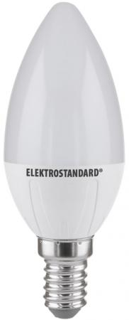 Лампа светодиодная E14 6W 3300K свеча матовая 4690389081491 elektrostandard лампа светодиодная smd e14 6w 3300k свеча на ветру матовая 4690389054976