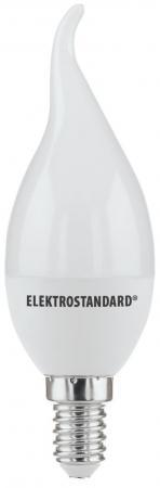 Лампа светодиодная E14 6W 3300K свеча на ветру матовая 4690389085505 elektrostandard лампа светодиодная smd e14 6w 3300k свеча на ветру матовая 4690389054976
