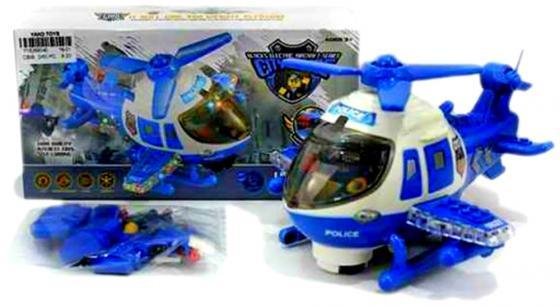 Вертолет Shantou Gepai Полицейский вертолет синий свет, звук Y18269040 цена