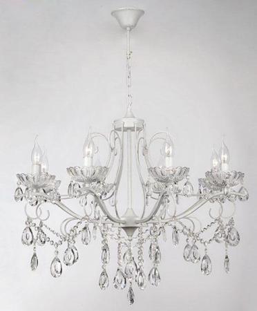 Подвесная люстра Eurosvet Нежность 10061/8 белый с золотом/прозрачный хрусталь Strotskis kink light светильник фейерверк
