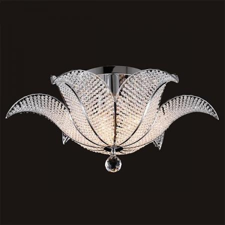 Потолочный светильник Eurosvet Ирис 10051/6 хром/прозрачный хрусталь Strotskis